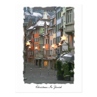 Cristmas In The Old Town Post Card
