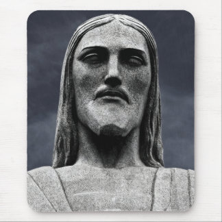 Cristo Redentor statue on Corcovado mountain Mouse Mat