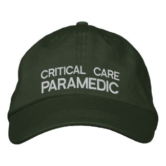 Critical Care Paramedic Flexfit Cap Green Embroidered Hat