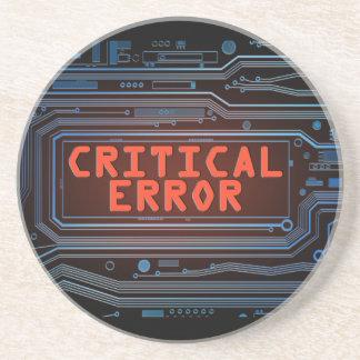 Critical error concept. coaster
