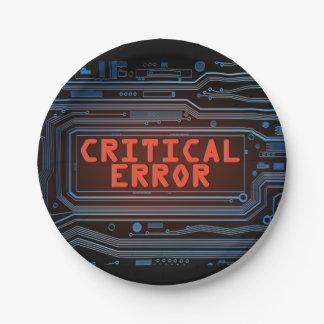 Critical error concept. paper plate
