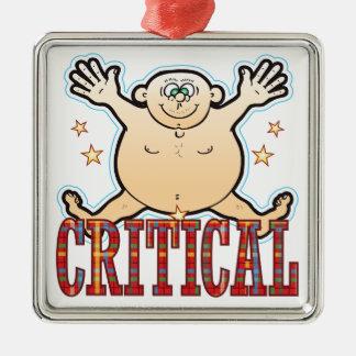 Critical Fat Man Silver-Colored Square Decoration