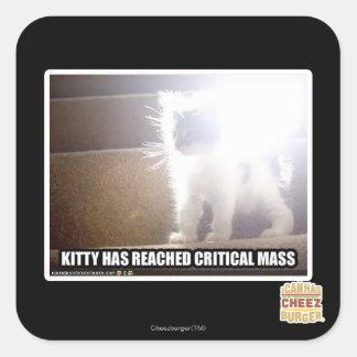 Critical Mass Kitty Square Sticker