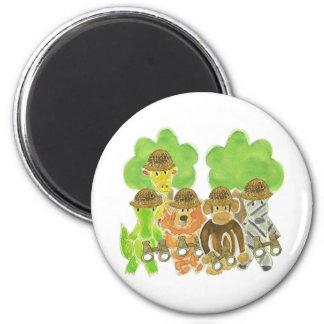 Critter Explorers 6 Cm Round Magnet