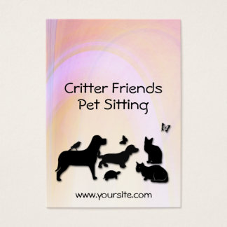 Critter Friends Pet Sitting Business Card