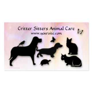 Critter Sitter Animal Care Pack Of Standard Business Cards