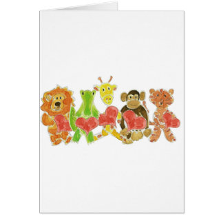 Critters Hearts Greeting Card