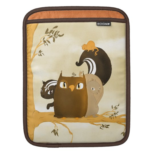 Critters in a Tree iPad Sleeve