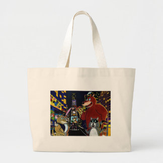 Critters in Times Square Tote Bags