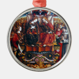 Crivelli: Coronation of Mary, Silver-Colored Round Decoration