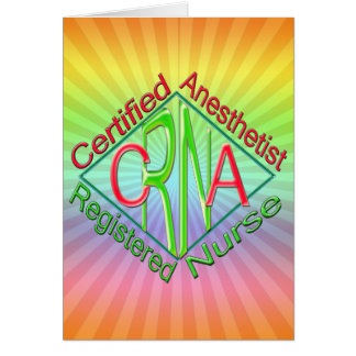 CRNA ACR RG Certified Registered Nurse Anesthetist Greeting Cards