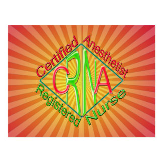 CRNA ACR RG Certified Registered Nurse Anesthetist Post Cards