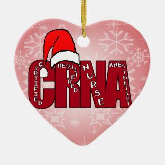 CRNA Certified Registered Nurse Anesthetist SANTA Christmas Ornament