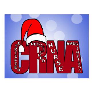CRNA Certified Registered Nurse Anesthetist SANTA Postcard