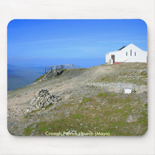 Croagh Patrick church Mouse Mat