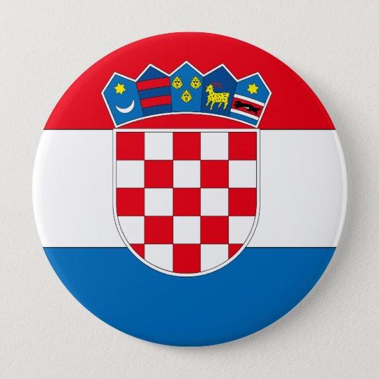 Croatia 10 Cm Round Badge
