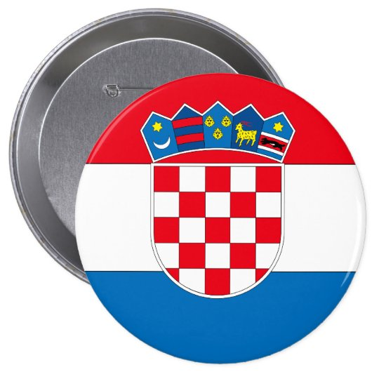 Croatia 10 Cm Round Badge