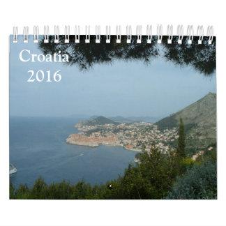 Croatia 2016 wall calendars