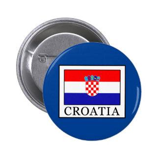 Croatia 6 Cm Round Badge
