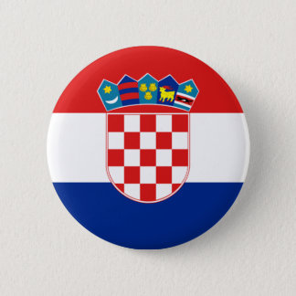 croatia 6 cm round badge