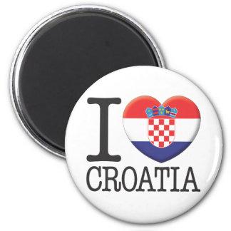 Croatia 6 Cm Round Magnet