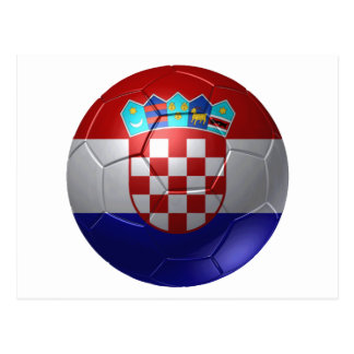 Croatia ball postcard