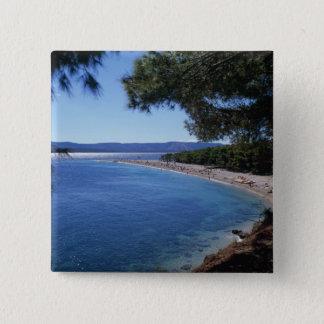 Croatia, Brac Island, Bol, Golden Cape Beach 2 15 Cm Square Badge