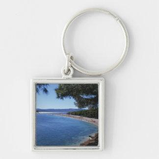 Croatia, Brac Island, Bol, Golden Cape Beach 2 Key Ring