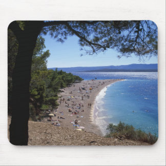 Croatia, Brac Island, Bol, Golden Cape Beach Mouse Mat
