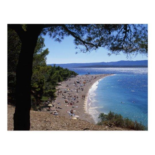 Croatia, Brac Island, Bol, Golden Cape Beach Postcard