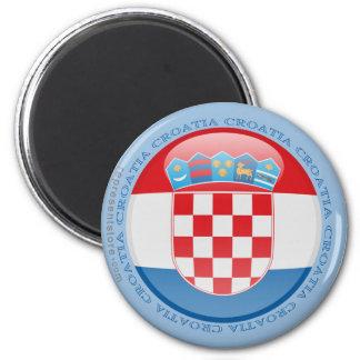 Croatia Bubble Flag 6 Cm Round Magnet