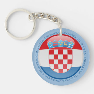 Croatia Bubble Flag Key Ring