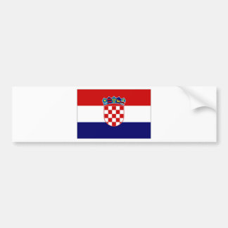 Croatia Civil Ensign Bumper Sticker