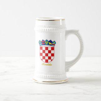 Croatia COA Beer Stein