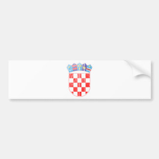 Croatia Coat Of Arms Bumper Sticker