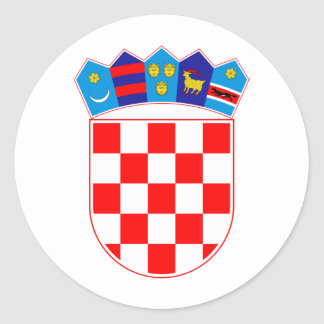 Croatia Coat Of Arms Classic Round Sticker