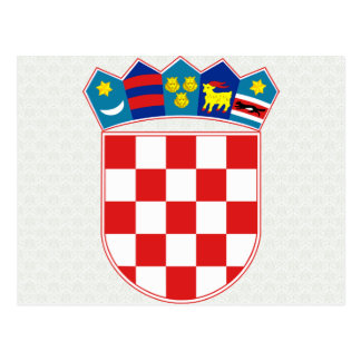 Croatia Coat of Arms detail Postcard