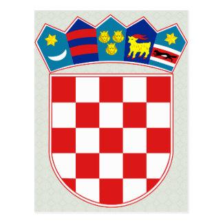 Croatia Coat of Arms detail Postcards