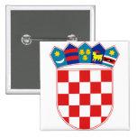 Croatia Coat of arms HR Hrvatska Pinback Button