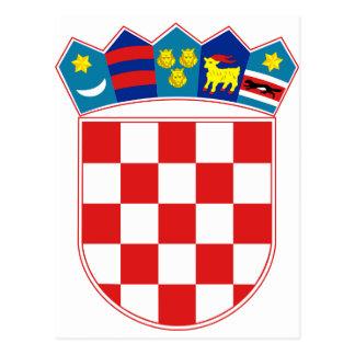 Croatia Coat of arms HR Hrvatska Post Card