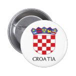 Croatia Coat of Arms Pinback Buttons