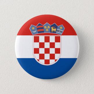 Croatia country flag symbol long 6 cm round badge
