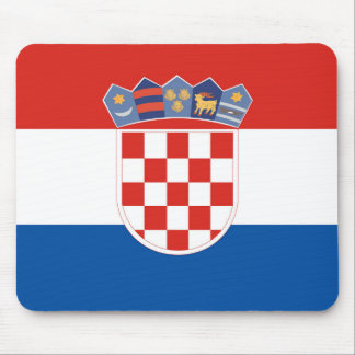 Croatia country flag symbol long mouse mat
