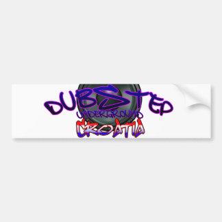 Croatia Croatian DUBSTEP Dub DnB reggae Electro Bumper Sticker
