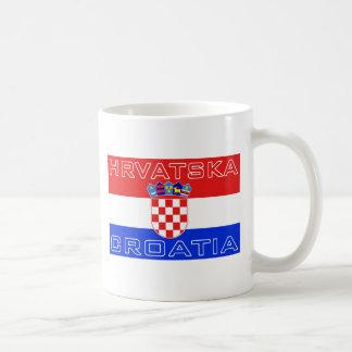 Croatia Croatian Hrvatska Flag Basic White Mug