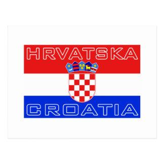 Croatia Croatian Hrvatska Flag Postcard