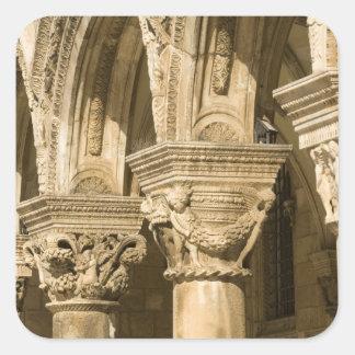 Croatia, Dalmatia, Dubrovnik. Stone arches and Sticker