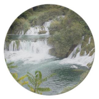 Croatia, Dalmatia, Krka Falls National Park Plate
