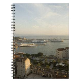 Croatia, Dalmatia, Split. View of Riva Spiral Notebook