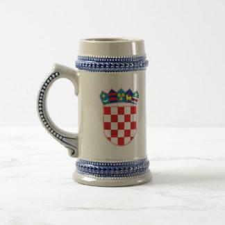 croatia emblem beer stein